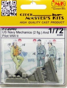 US Navy Mechanics (2 fig. ) And Pilot WW II
