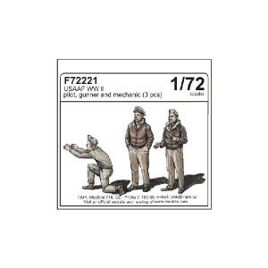 USAAF WW II PILOTA ,  MITAGLIERE E MECCANICO (3 PCS)