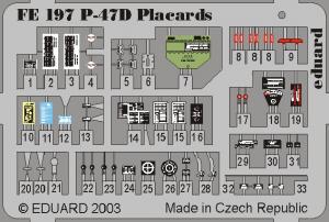 P-47D THUNDERBOLT PLACARD