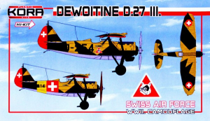 Dewoitine D.27 III. Swiss Air Force WWII. Camouflage