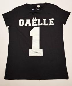 T-Shirt con stampa logo e numero bianchi
