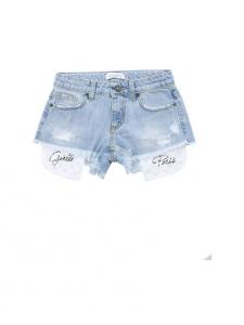 Pantaloncino di jeans con tasche bianche