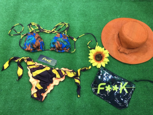 Bikini Triangolo e slip nodi frou frou Papunya EffeK