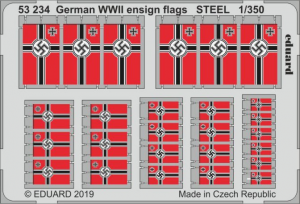 German WWII ensign flags STEEL