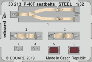 P-40F seatbelts STEEL (TRUMP)