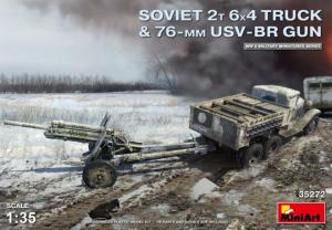 SOVIET 2T 6X4 TRUCK & 76-mm USV-BR GUN