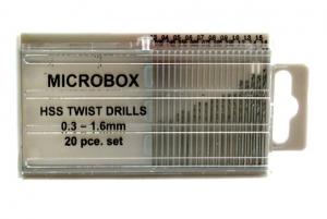 20 x Minidrill bits 0.3mm-1.6