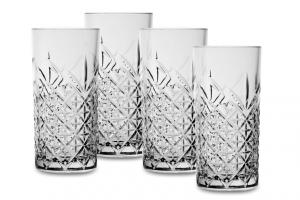 Set 4 Bicchieri Timeless Long Drink in Vetro cm.16,1h diam.7,8