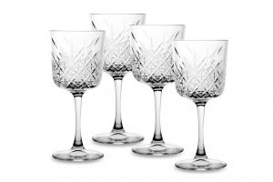 Set 4 Calici Vino in vetro Timeless CL 33 cm.19,5h diam.8,8