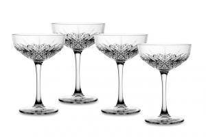 Set 4 Coppe Champagne in vetro Timeless CL 27 cm.15,7h diam.10,8
