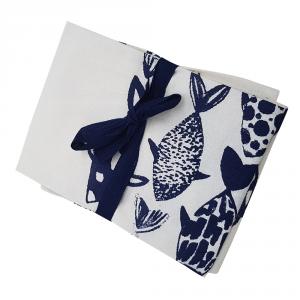 Asciugapiatti - Strofinaccio da cucina MEDITERRANEO Biano e blu MARE