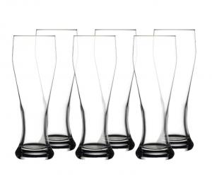 Set 6 pezzi bicchieri da birra in vetro Weizenbeer cm.23,3h diam.8