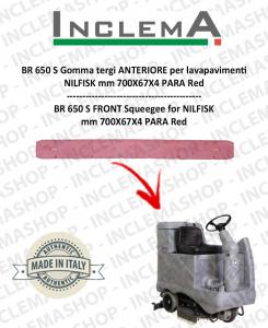 BR 650 S Gomma tergi ANTERIORE per lavapavimenti NILFISK