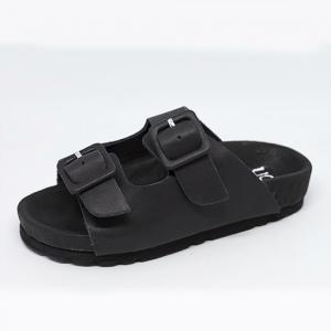 Scarpe a sandalo antracite con fibbie
