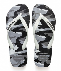 HAVAIANAS TOP CAMU CF GRAY STEEL/WHITE INFRADITO 41413981077
