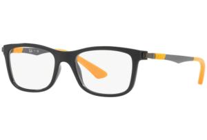 Ray Ban - Occhiale da Vista Unisex Kids, Junior Optical, Matte Black-Yellow RY1549 3733 C46