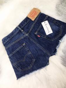 panataloncino jeans LEVIS vita alta rigenerato tg xs s m