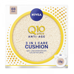 Nivea Q10+ Cushion 3 In 1 Care 03 Dark 15g