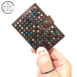 Kjøre Project - Limited Studs Turchese iClutch + Coins - Brown