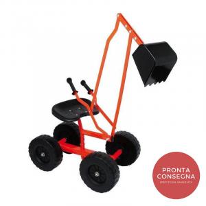 Veicolo ruspa con ruote Gioco per bambini in metallo