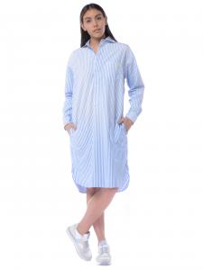 848071f7f40a Abito donna Ralph Lauren chemisier con righe azzurro