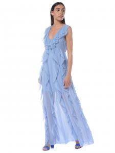 0257d1573c67 Abito lungo donna Aniye By con rouches azzurro