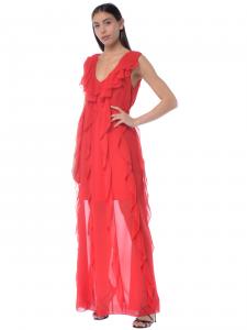 963039390f71 Abito lungo donna Aniye By con rouches rosso