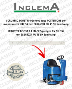 SCRUBTEC BOOST R 4 Gomma tergi POSTERIORE per lavapavimenti NILFISK-2