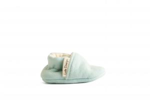Scarpine neonato azzurro cielo in cotone biologico