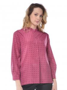 d86ce4e7fa72 Camicia donna Seventy cotone e seta con fantasia rosa scuro