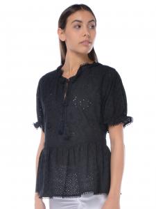 cecbfcdb5028 Camicia donna My Twin con lavorazione sangallo nero