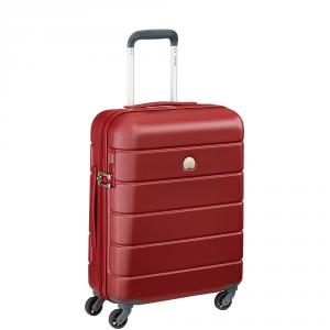 Delsey - Lagos  - Valigia trolley da cabina Ryanair 55 cm 4 ruote TSA rigido rosso cod. 3870803