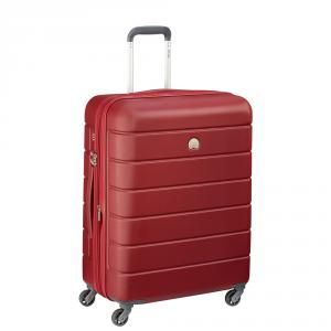 Delsey - Lagos - Valigia trolley medio 66 cm 4 ruote TSA rigido rosso cod. 3870810