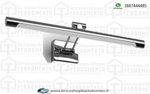 Lampada Led Da Parete Moderna 8W Lunghezza 500mm 4000K Con Braccio per Specchio