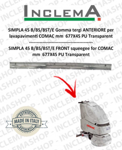 SIMPLA 45 B/BS/BST/E Gomma tergi ANTERIORE per  lavapavimenti COMAC