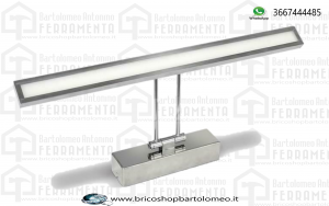 LAMPADA LED SPECCHIO CROMO BIANCO NATURALE 8W