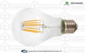 Lampadina LED filamento 8W E27 A67 Bianco freddo