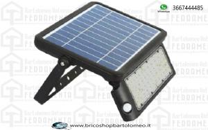 Proiettore Solare 10W e Sensore Colore Nero