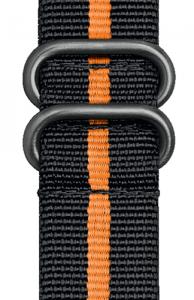 Cinturino nero e arancione in nylon stile NATO - 24mm