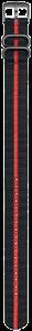 Cinturino nero e rosso in nylon stile NATO - 23mm