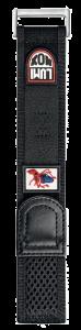 Cinturino nero in velcro con piovra - 32mm