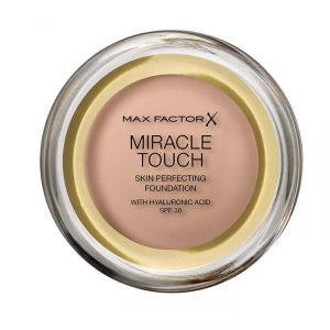 Max Factor Miracle Touch Skin Perfecting Foundation Spf30 045 Warm Almond