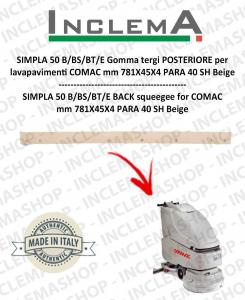 SIMPLA 50 B/BS/BT/E Gomma tergi POSTERIORE per lavapavimenti COMAC