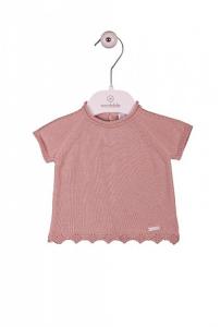 Camicia da notte rosa a maniche corte