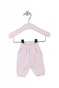 Pantalone basico bianco con vita elasticizzata