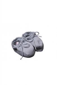 Scarpe di lana bianche con lacci