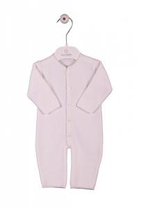 Tutina rosa a maniche e pantalone lunghi con bottoni frontali