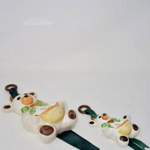 Coppia Orsetti Ceramica
