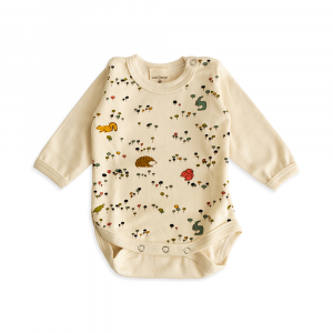 Long sleeved organic double cotton onesie