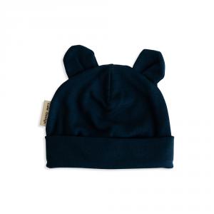 Cappellino con orecchie blu in cotone biologico